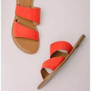 Bohme Double strap sandals in orange